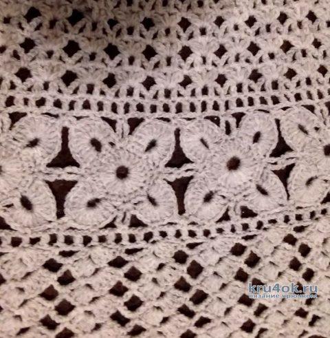 Жилет для девочки крючком. Работа Елены Шевчук вязание и схемы вязания