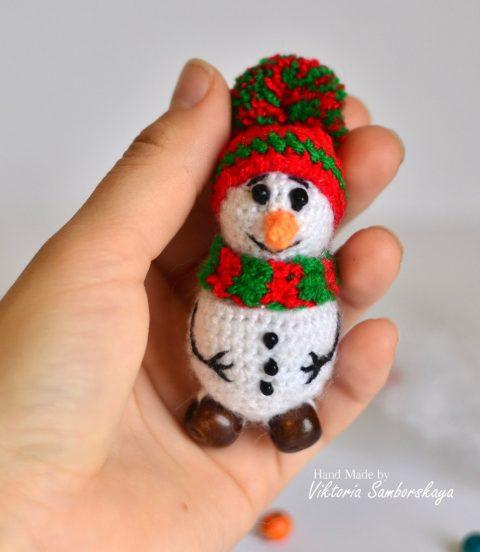 Мини-снеговик крючком от Самборский Виктории