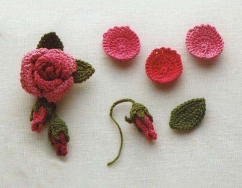 Схема розы с наборными лепестками