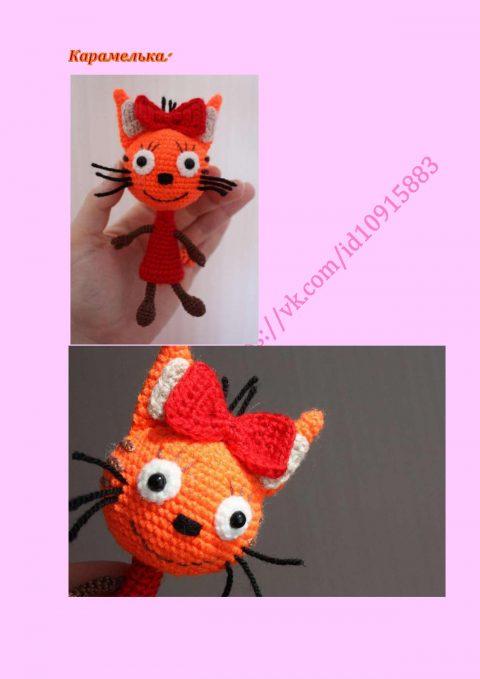 Карамелька и Коржик -коты из мультфильма, описание работы