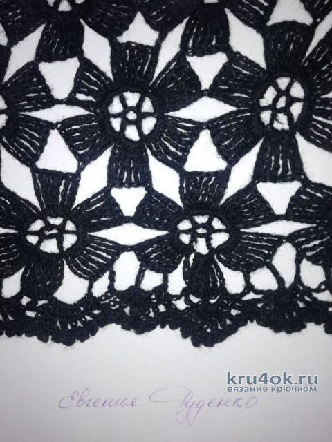 Ажурное платье крючком Раз цветочек, два цветочек. Работа Евгении Руденко вязание и схемы вязания