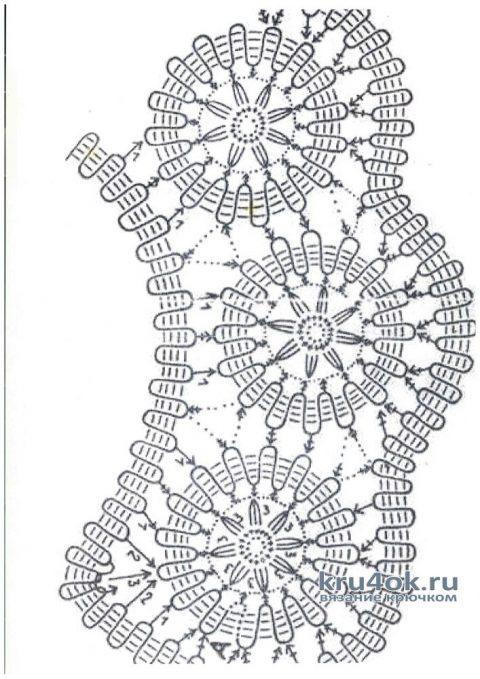 Ажурное женское платье крючком. Работа Аллы вязание и схемы вязания