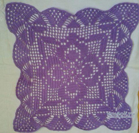 Квадратные салфетки крючком. Работы Галины Коржуновой вязание и схемы вязания