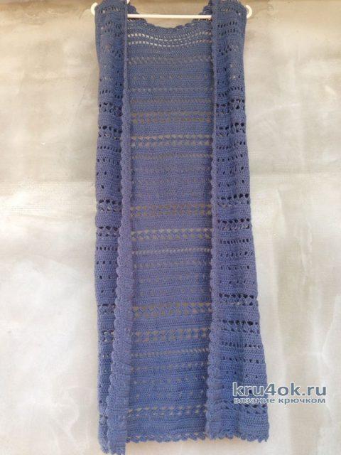 Летний кардиган для женщин крючком. Работа Myrka_FM вязание и схемы вязания