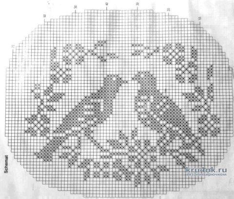 Салфетка крючком. Работа Лещенко Виктора вязание и схемы вязания