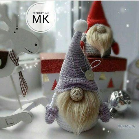 Скандинавский гном Ниссе крючком. Работа Alise Crochet вязание и схемы вязания