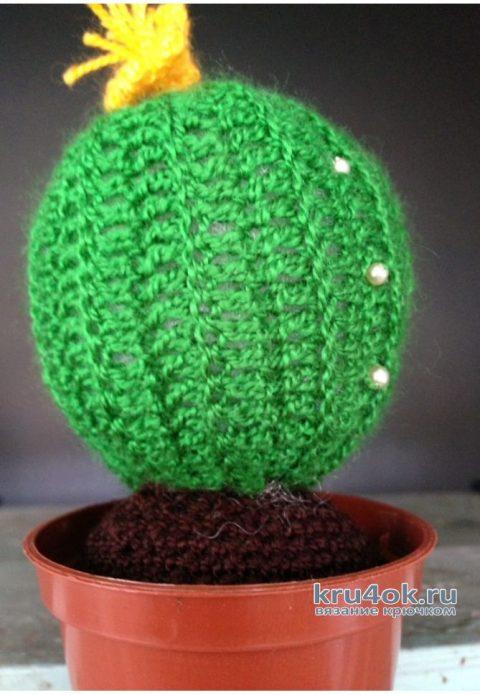 Вязанные крючком кактусы LOVE, часть 2я. Работа Myrka_FM вязание и схемы вязания