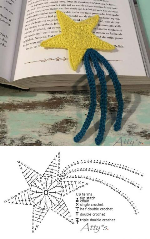 Вяжем крючком закладки и обложки для книг из остатков пряжи