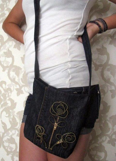 Сумка - шоппер своими руками из старых джинс