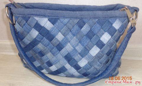 Классная сумка из старых джинс отkirena8