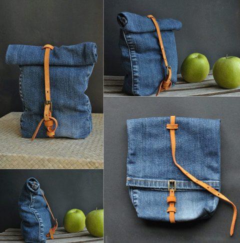 Как сшить джинсовую сумку - рюкзак