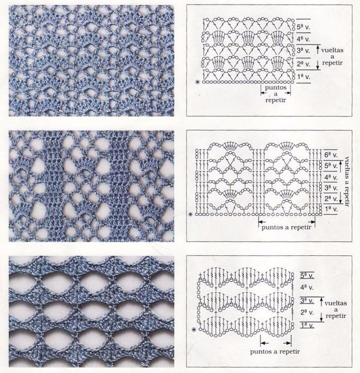 Вязание крючком с картинками и схемами