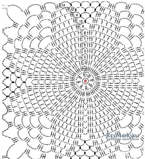 Ажурный кардиган крючком. Работа Анастасии Кабытовой вязание и схемы вязания