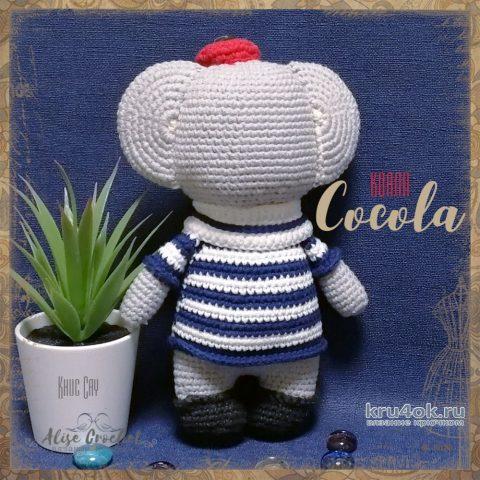 Игрушка коала Cocola крючком. Работа Alise Crochet вязание и схемы вязания