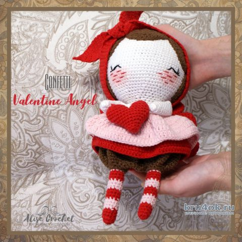 Кукла амигуруми Valentine Angel. Работа Alise Crochet