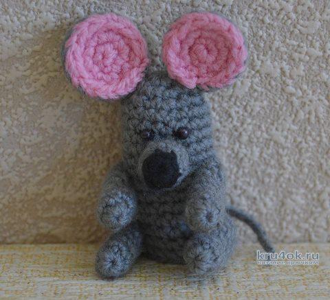Пальчиковый кукольный театр, персонаж Мышка крючком вязание и схемы вязания