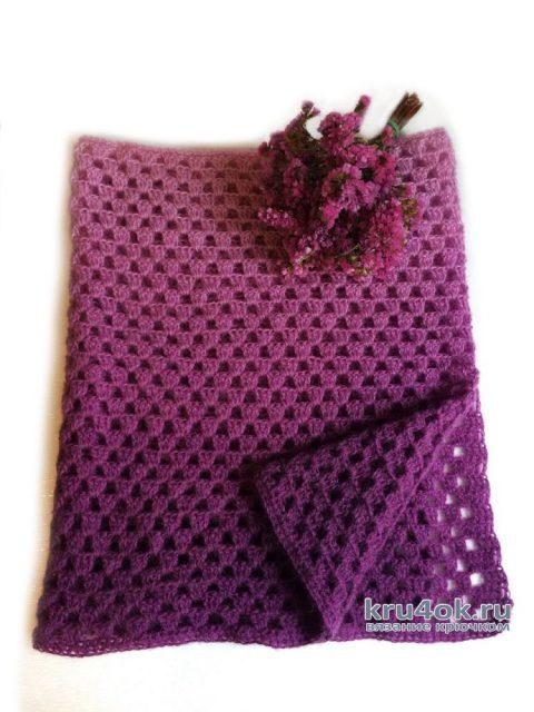 Палантин-шарф крючком Шахматы для начинающих вязание и схемы вязания