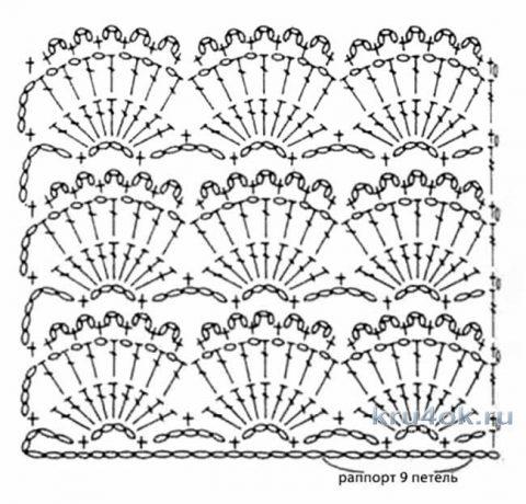 Узоры для вязания пледа крючком единым полотном