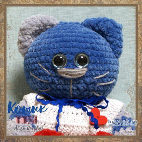 Плюшевый кот крючком. Работа Alise Crochet вязание и схемы вязания