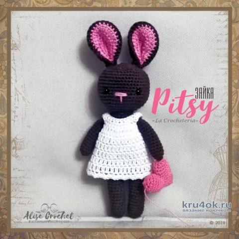 Зайка Pitsy - амигуруми крючком. Работа Alise Crochet вязание и схемы вязания
