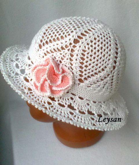 Летняя шляпка - панама крючком для девочки