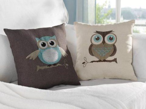 Простые выкройки для подушки-совы