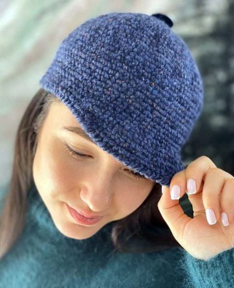 Как связать теплую кепку для женщин крючком