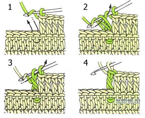 Бактус Сиреневая даль крючком. Работа Ксении вязание и схемы вязания