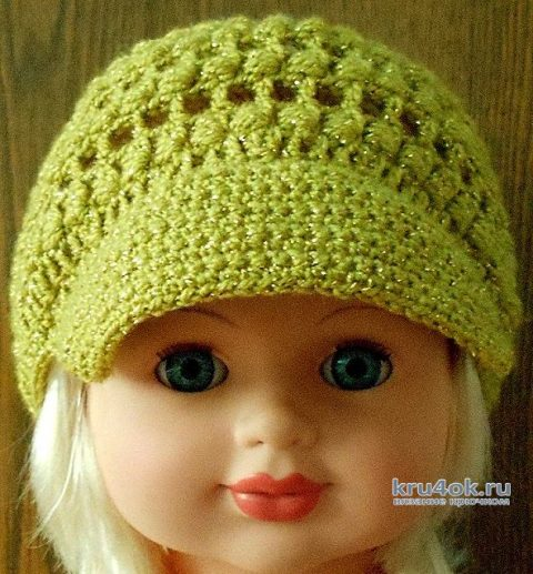 Кепка для девочки крючком, видео-урок вязание и схемы вязания