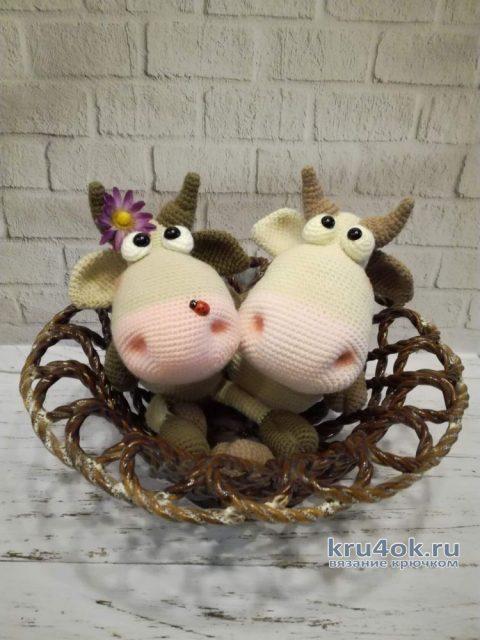 Корова МИЛА крючком. Работа Веры Буровой вязание и схемы вязания