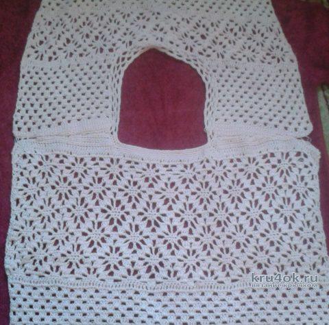 Летняя кофточка крючком. Работа Галины Коржуновой вязание и схемы вязания