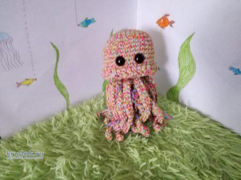 Медуза по имени Муза, вязанная игрушка. Работа Герасимова Михаила вязание и схемы вязания