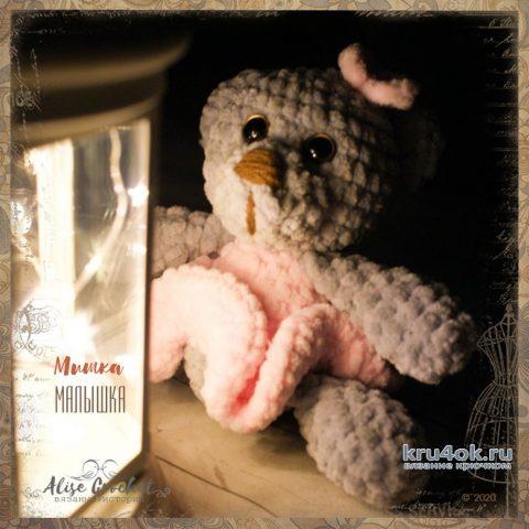 Мишка - малышка, вязанная крючком игрушка. Работа Alise Crochet вязание и схемы вязания