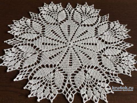 Салфетка Цветок, связанная крючком. Работа Надежды Борисовой вязание и схемы вязания