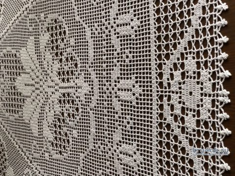 Скатерть ПРАЗДНИЧНАЯ. Работа Надежды Борисовой вязание и схемы вязания