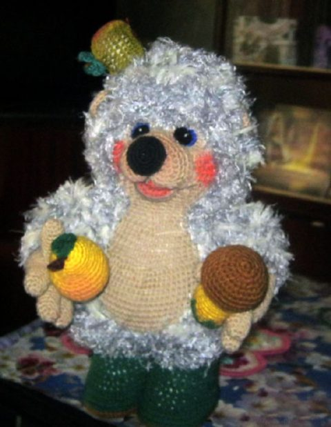 Crochet a hedgehog