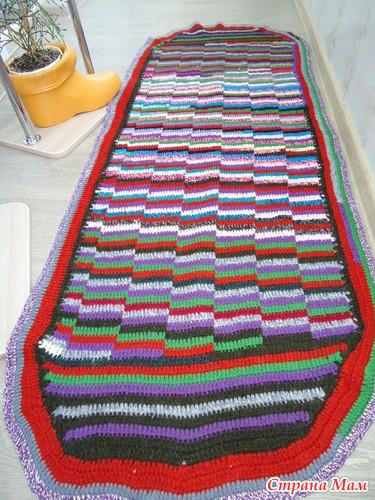 Прихватки и коврики для дома вяжем крючком из остатков пряжи