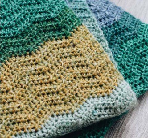 "Узор ""зиг-заг"" для вязания шарфа-снуда"