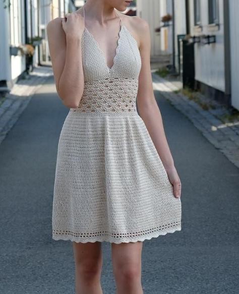 Можно связать летнее платье крючком