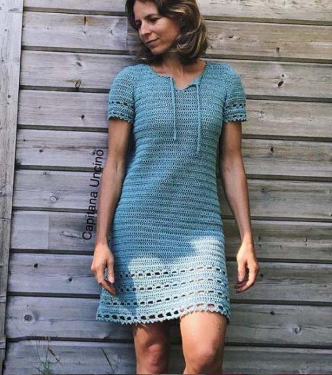 летнее платье крючком