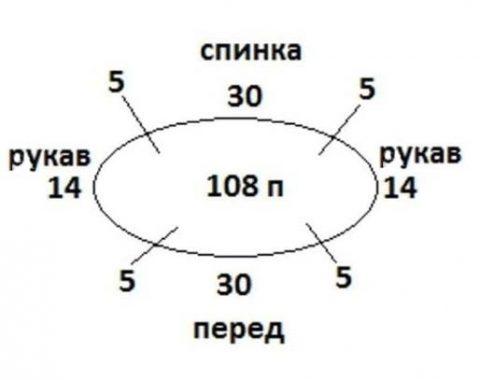 Летний топ/футболка крючком, описание и схема вязания