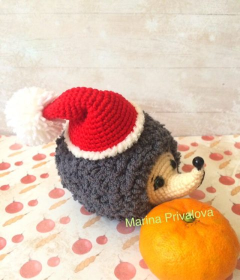 Fluffy hedgehog how to crochet