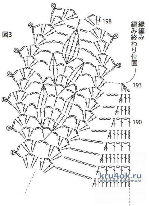 Ажурный бактус крючком. Работа Альбины Ваниной вязание и схемы вязания