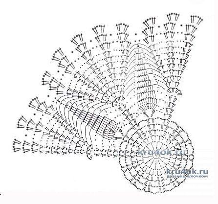 Берет летний крючком. Работа Анны Черновой вязание и схемы вязания