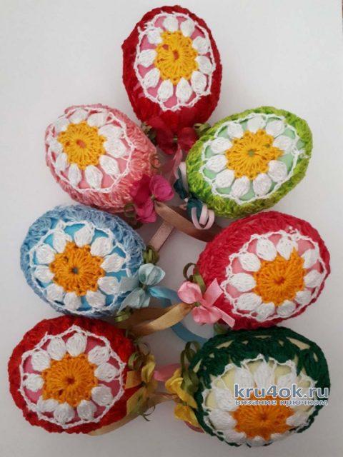 Декоративное яйцо - украшение к Пасхе. Работа Фланденой Татьяны вязание и схемы вязания