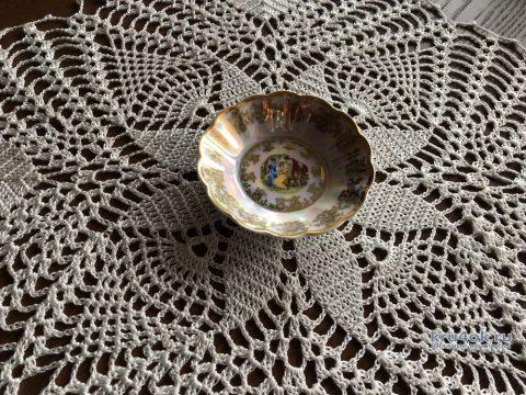 Кружевная салфетка Букет. Работа Надежды Борисовой вязание и схемы вязания