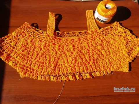 Топ Сочный апельсин. Работа Евгении Руденко вязание и схемы вязания