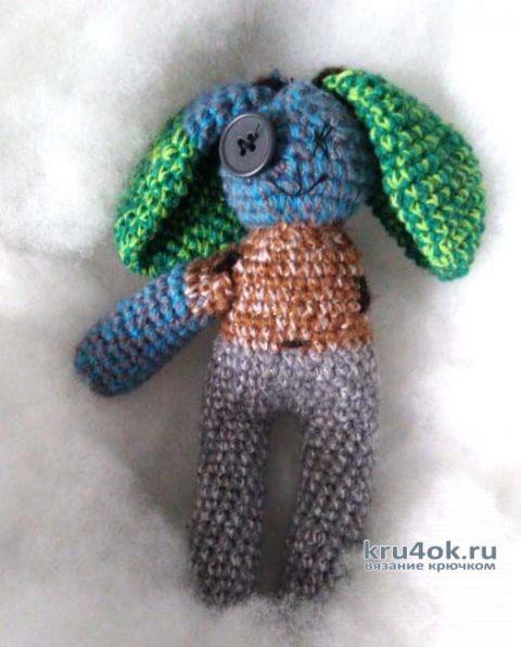 Вязанный крючком заяц. Работа Герасимова Михаила вязание и схемы вязания