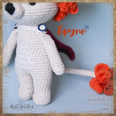 Золотогривый левБруно, связанный крючком. Работа Alise Crochet вязание и схемы вязания