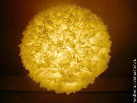 Как из икеевской люстры сделать дизайнерский светильник своими руками
